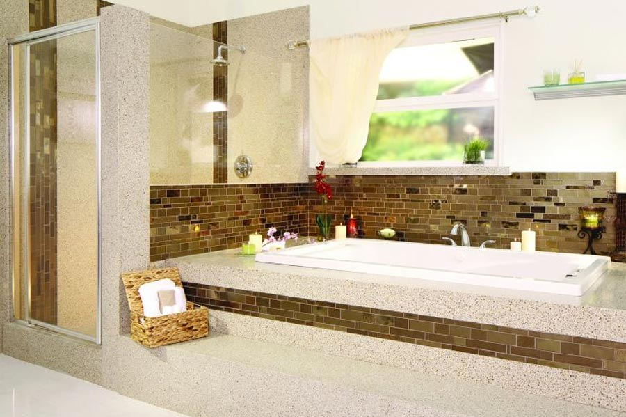 Stone benchtops for new bathrooms